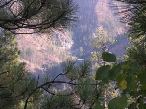 looking down into sleeping child hot springs canyon