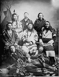 Salish delegation to Washington DC 1884, to plead to remain in their homeland of the Bitterroot Valley. They were forcably removed in 1891.